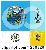 Clipart Of Ecology Designs Royalty Free Vector Illustration by elena