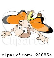 Clipart Of A Butterfly In Flight Royalty Free Vector Illustration
