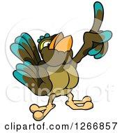 Bird Holding Up A Finger