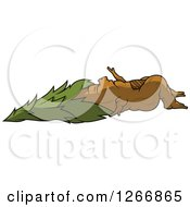 Clipart Of A Sleeping Conifer Tree Royalty Free Vector Illustration