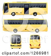3d Yellow Bus From Different Angles