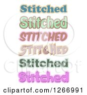 Stitch Text Designs