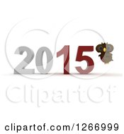 Clipart Of A 3d Owl And 2015 New Year Royalty Free Illustration by KJ Pargeter