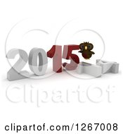 Clipart Of A 3d Owl By 2015 New Year By A Fallen 14 Royalty Free Illustration by KJ Pargeter