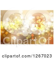 Clipart Of A Background Of Snowflakes And Sparkles Royalty Free Illustration
