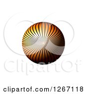 Clipart Of A 3d Orange Ray Sphere On White Royalty Free Illustration