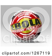 Clipart Of A 3d Caution Ebola High Alert World Map Sphere Royalty Free Illustration
