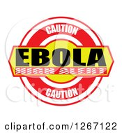 Clipart Of A Caution Ebola High Alert Design Royalty Free Illustration by MacX