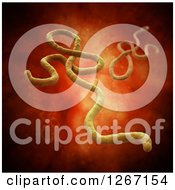 Clipart Of A 3d Model Of The Ebola Virus In The Blood Stream Royalty Free Illustration