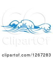 Clipart Of Blue Ocean Waves Royalty Free Vector Illustration