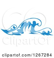 Clipart Of Blue Ocean Waves 10 Royalty Free Vector Illustration by Vector Tradition SM