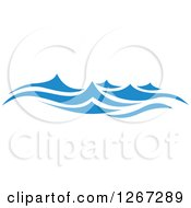 Clipart Of Blue Ocean Waves 4 Royalty Free Vector Illustration