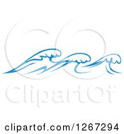 Clipart Of Blue Ocean Waves 9 Royalty Free Vector Illustration