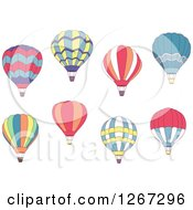 Clipart Of Hot Air Balloon Designs Royalty Free Vector Illustration