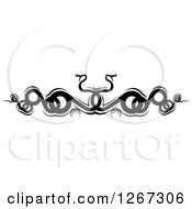 Clipart Of Black And White Entwined Curly Snakes Royalty Free Vector Illustration