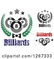 Clipart Of Billiards Pool Ball Designs Royalty Free Vector Illustration