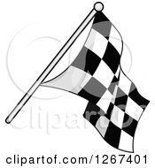 Grayscale Checkered Racing Flag