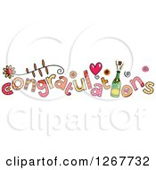 Clipart Of Colorful Congratulations Text Royalty Free Vector Illustration