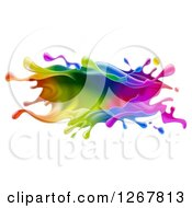 Clipart Of A Colorful Paint Splash Royalty Free Vector Illustration by AtStockIllustration