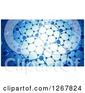 Clipart Of A Nanotechnology Graphene Atomic Structure With Bright Lighting Royalty Free Illustration