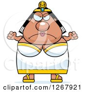 Angry Chubby Cleopatra Egyptian Pharaoh Woman With Balled Fists