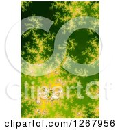 Green And Yellow Fractal Spiral Background