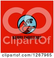 Clipart Of A Merry Christmas Greeting Below A Cardinal On Red Royalty Free Vector Illustration by elena