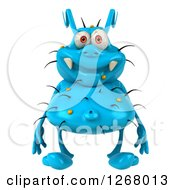 Clipart Of A 3d Blue Germ Royalty Free Illustration by Julos