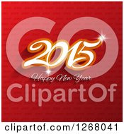 Clipart Of A 2015 Happy New Year Greeting Over Red Text Royalty Free Vector Illustration