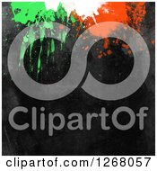 Clipart Of A Black Background With Paint Splatters Royalty Free Illustration by KJ Pargeter