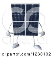 Clipart Of A 3d Solar Panel Character Royalty Free Illustration