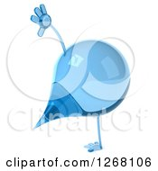 Clipart Of A 3d Water Droplet Character Cartwheeling Royalty Free Illustration