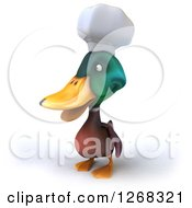 Clipart Of A 3d Mallard Duck Chef Facing Left Royalty Free Illustration