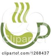 Poster, Art Print Of Steamy Green Tea Cup