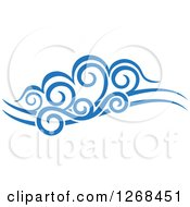 Clipart Of Blue Ocean Surf Waves 11 Royalty Free Vector Illustration