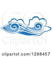 Clipart Of Blue Ocean Surf Waves 8 Royalty Free Vector Illustration