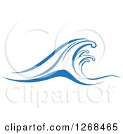 Clipart Of Blue Ocean Surf Waves 16 Royalty Free Vector Illustration