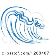 Clipart Of A Blue Ocean Surf Wave Royalty Free Vector Illustration by Vector Tradition SM
