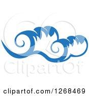 Clipart Of Blue Ocean Surf Waves 13 Royalty Free Vector Illustration