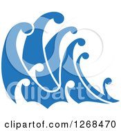Clipart Of Blue Ocean Surf Waves 3 Royalty Free Vector Illustration by Seamartini Graphics