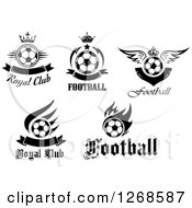 Black And White Soccer Ball Sports Designs