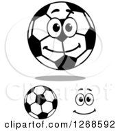 Soccer Balls And Happy Face