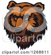 Clipart Of A Brown Bear Head Royalty Free Vector Illustration