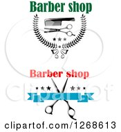 Clipart Of Scissors And Comb Barber Shop Designs Royalty Free Vector Illustration