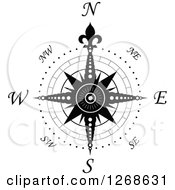 Clipart Of A Nautical Compass Royalty Free Vector Illustration