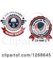 Clipart Of Air Drop And Hot Air Balloon Designs Royalty Free Vector Illustration by Vector Tradition SM