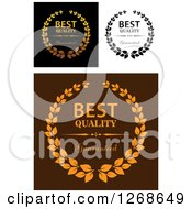 Clipart Of Best Quality Wreath Designs Royalty Free Vector Illustration