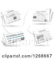 Clipart Of White Newspaper Designs Royalty Free Vector Illustration
