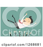 Clipart Of Colleagues Throwing Up Their Boss In Success Royalty Free Vector Illustration by Seamartini Graphics
