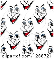 Clipart Of A Seamless Face Background Pattern Royalty Free Vector Illustration by Seamartini Graphics